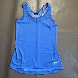 Nike pro dri fit blue tank-tops SZ M